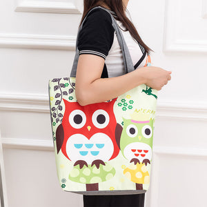 Owl + More Canvas Everyday Use Carrying Tote