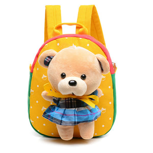 Plush 12 Designs Animal Toddler  Personal Backpack