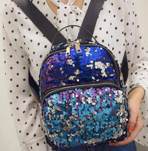 Sequin Casual BlingBling Small Backpack