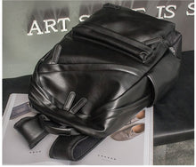 College Style Men's Patent Leather Backpack