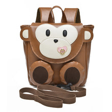 Cartoon Monkey PU Synth Leather PreK-K Age 1-3