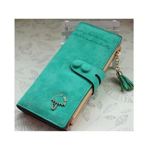 Umbrella Chic PU Synth Suede Long Wallet
