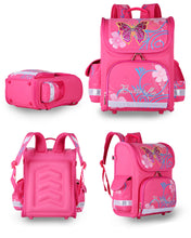 Quality Orthopedic Princess + Girls + Butterflies Design School Backpack