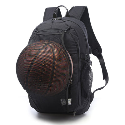 Ball Net 15.6 Inch Notebook Computer Men's School Backpack Portable Power USB Design