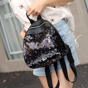 Preppy Chic Women Sequins Backpack BlingBling Small Backpack