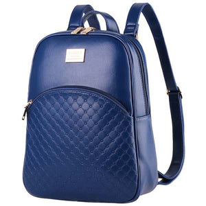 Shell style backpack PU Synth Leather Backpack