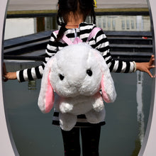 Long-haired rabbit plush backpack