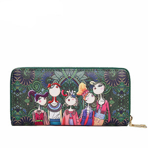 Character Cartoon Pucker Girl Long Wallet