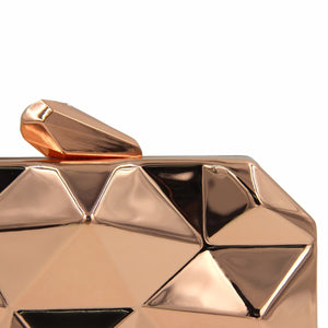 Metallic Artistic Geometric Style Clutch