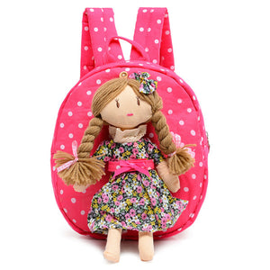 Doll Character Polka Dot 3D Girls Backpack