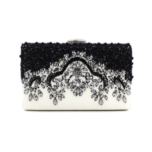 Black Clutch Wedding Bags Female Vintage Clutches Ladies Beaded Pearl Evening Bags Party Purses