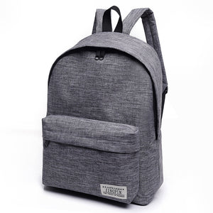Solid Color Canvas Unisex Small Backpack