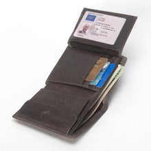 Classic Trifold Genuine Leather Wallet w/ Coin Pouch