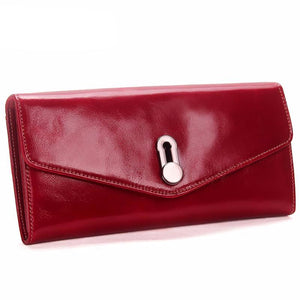 Sophisticated Solid Color Genuine Leather Wallet