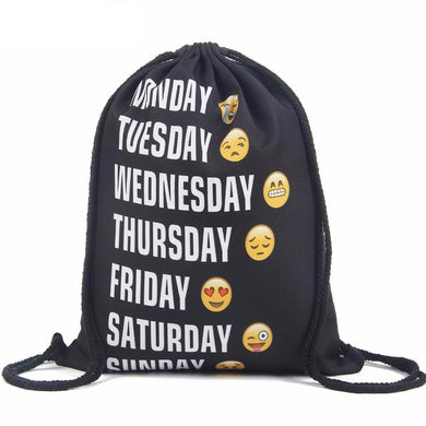 Emoji + Chiquaqua+ Dollar Bills+ More 19 designs Drawstring Backpack