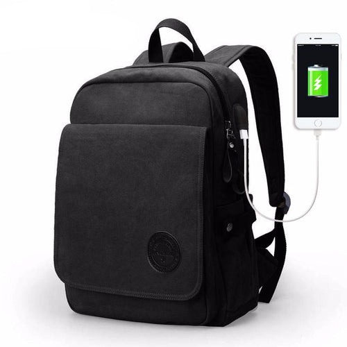 Stylish Canvas 15.6 inch Laptop High Capacity Fashion Casual Backpack