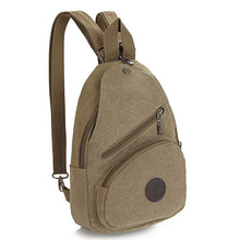 Multifunctional Chest Crossbody Pack Small Vintage Canvas Backpack