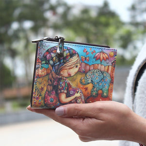 Cartoon Colorful 2-Fold Small Wallet