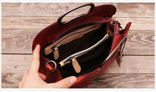 Vintage Style Genuine Leather Shoulder Crossbody Handbag