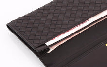 Weave Style 100% Genuine Leather Fashion Wallet