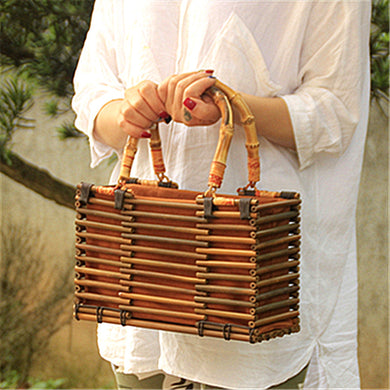 Fashion Bamboo Trunk Small Handbags