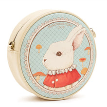 Vintage Chic Rabbit Circular Mini Shoulder Crossbody Bag