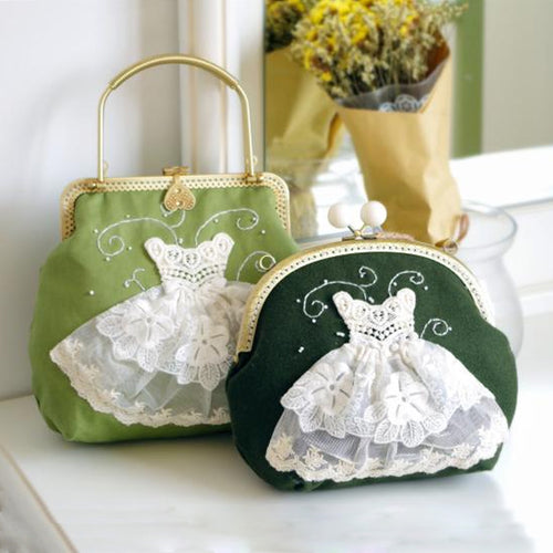Lace 3D Wedding Dress Stiched Bridal Clutch