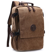 Top Flap Side Buckle Stylish Washed Color Styled Canvas Backpack