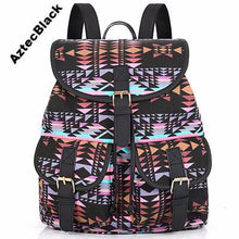 Bohemian Beautiful Colorful Pattern Canvas Sac a Dos Femme Rucksack Style Backpack