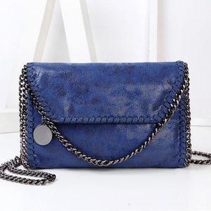 Edgy PU Synth Leather Crossbody Bag