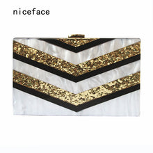 Evening wallet new luxury handbags women designer casual striped vintage clutch