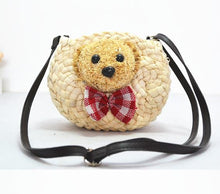 Lovely bear straw bags children