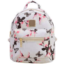 Butterfly Cute PU synth leather small back pack Canvas Print Backpacks