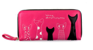 Cat Characters Long Wallet