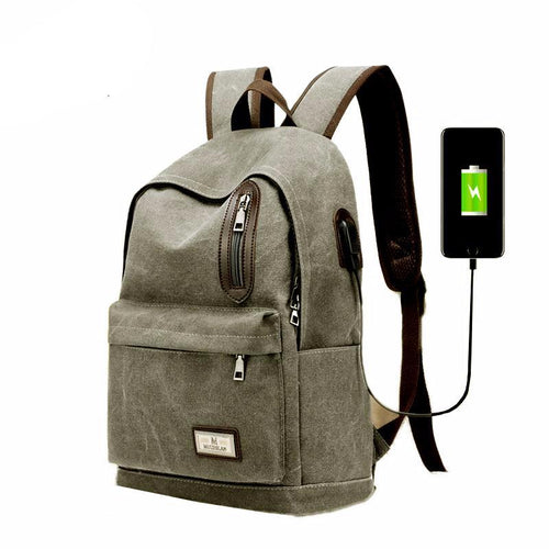 Vintage Canvas Style Laptop Backpack