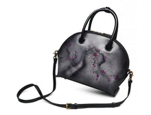 Unique Shaped Genuine Leather Asian Flower Style Handbag