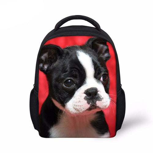 Dogs Mini Backpack 3-5 age Boys Girls Preppy Style 12''