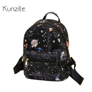 Space Design PU Synth Leather Small Fashion Backpack
