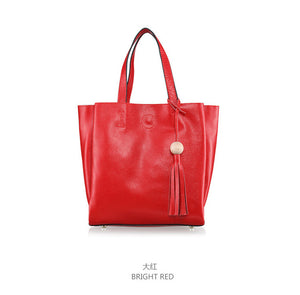 Rustic Chic Color and Design Genuine leather Tote Shoulder Handbag