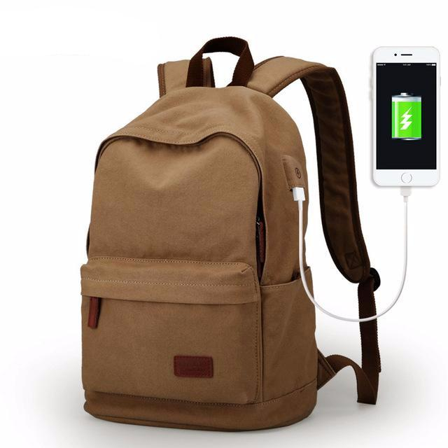 Everyday School Canvas Men's Backpack