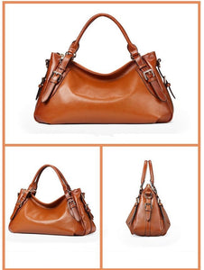 Fashion Top Genuine LeatherTote Style Shoulder Handbag