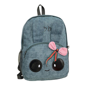 Canvas Backpack Cute Rabbit Ear Rucksacks Bow Backpack for Teenagers Girls
