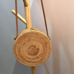 Small Circle Straw Fashion Beautiful Handbag