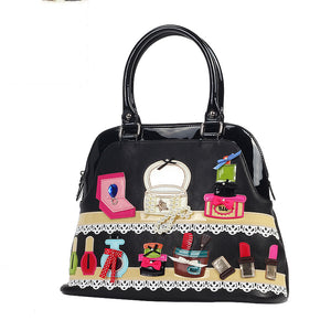 Cosmetics Box Theme Shoulder Handbag