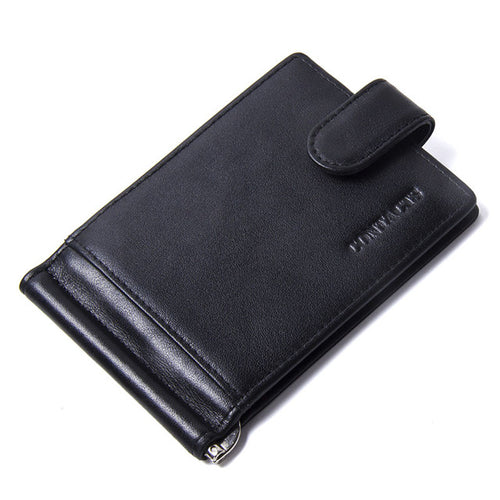 Minimalist Unisex Compact Card Wallet w/Coin Pouch and Money Clip