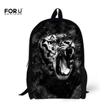 FORUDESIGNS 3D Unique Guitar Printing School Backpacks for Children Fashion Women Men Casual Backpack Student Mochila Rucksack