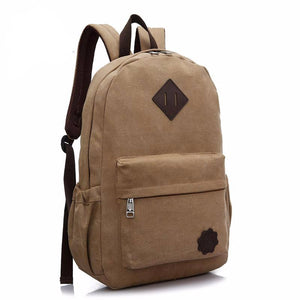 Earth Color Style Canvas Unisex Backpack