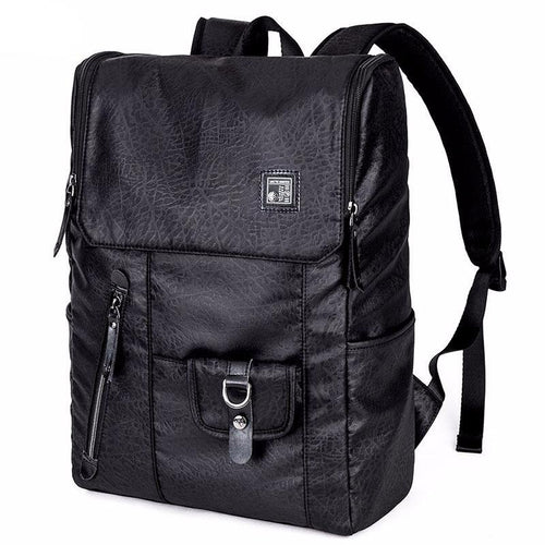 High College Casual Oxford Black + Camouflage Rucksack Style Backpack