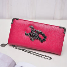 Fashion Metal Skull/Deer Head/Scorpion PU Synth Leather Long Wallet