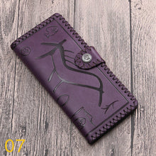Hieroglyph Style Embossed Long Wallet - 16 Designs